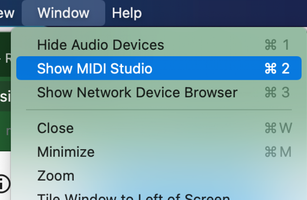 Connecting Bluetooth Midi to A Computer Mac Step 2